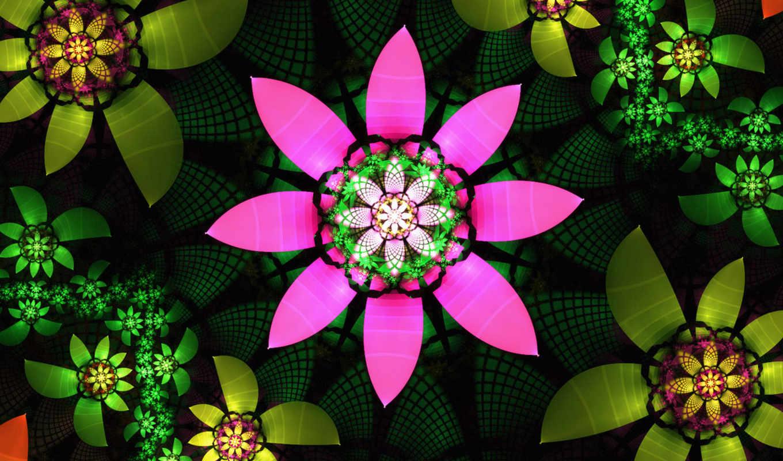 цветы, flowers, fractal, evelina,