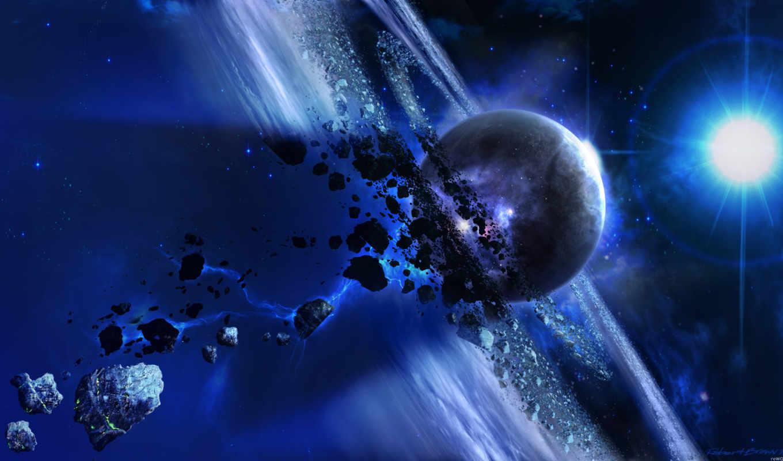 планета, астероиды, звезда, картинка, звезды, метеорит, разрешением, картинку,