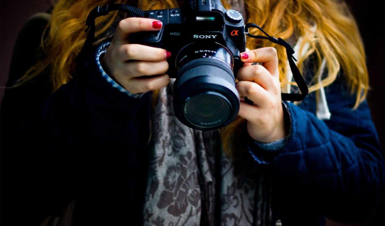 фотоаппарат, devushka, настроения, руки,