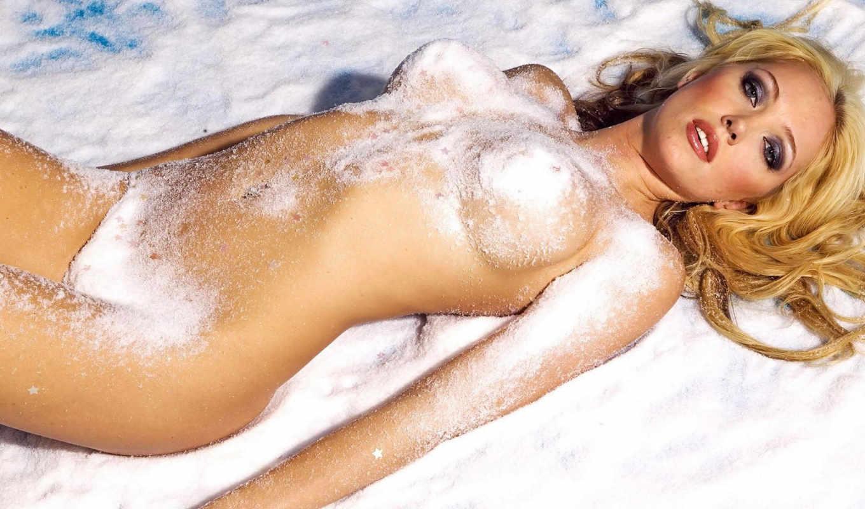 devushki, голая, голые, снегу, девушка,