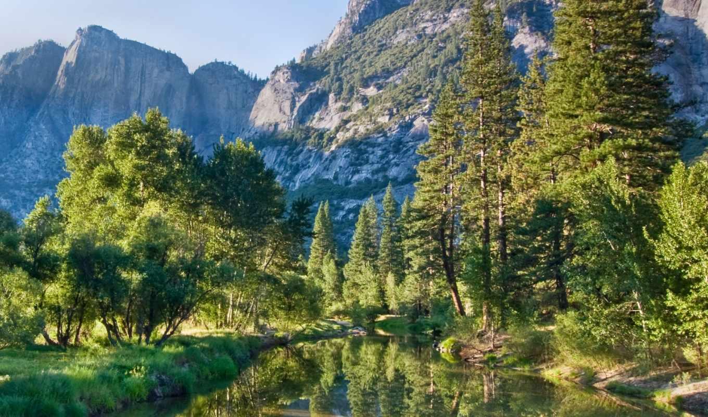 wallpapers, nature, природа, отражение, деревья, воде, trees, горы, hd, full, photos, изображение, wide, picsfab, растительность, great, and,