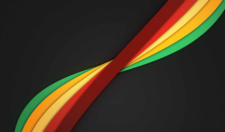 абстракция, линии, разноцветные, нравится, windows, дек, тема,