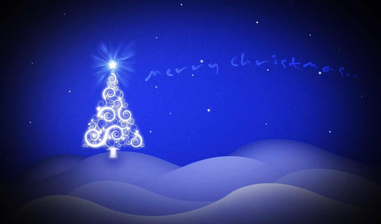 christmas, blue, фон, new, год, праздник, merry, desktop,