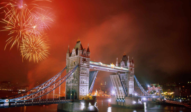 мост, london, башня, город, тауэрский, изображение, река,