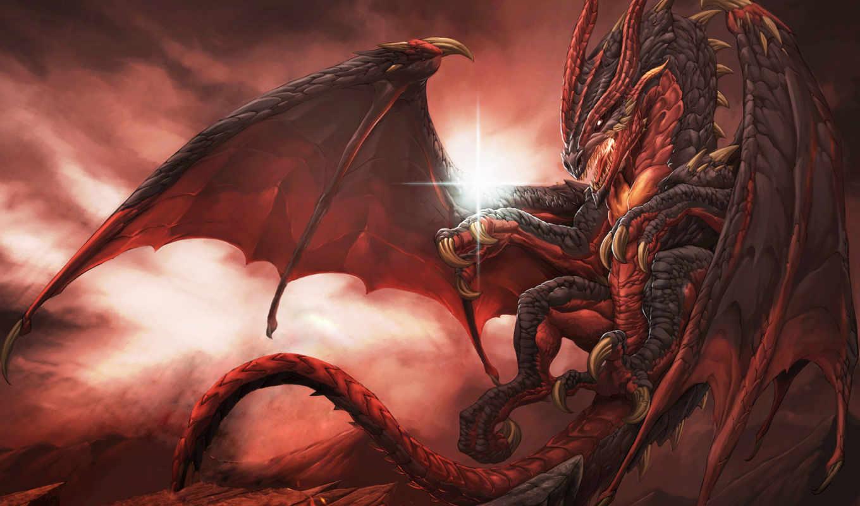 битва, дракон, добра, dash, воин, радуга, art, злом, mythical,