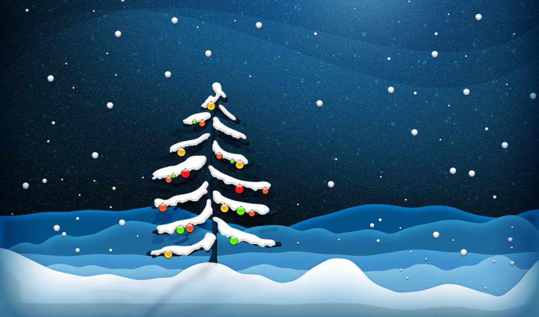 год, new, снег, елка, картинка,