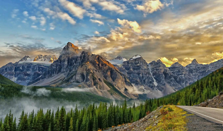 banff, park, , desktop, mount, peaks, ten, babel, mountains, para,