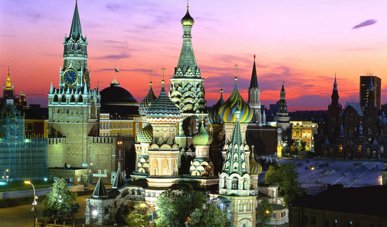 москва, красная, россия, кремль, площадь, turret,