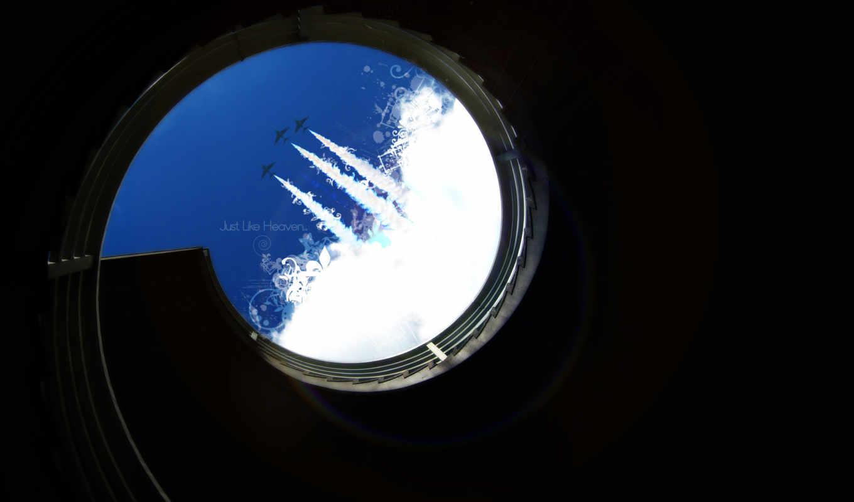 минимализм, небо, надпись, шахта, тень, лестница, самолеты, cool,