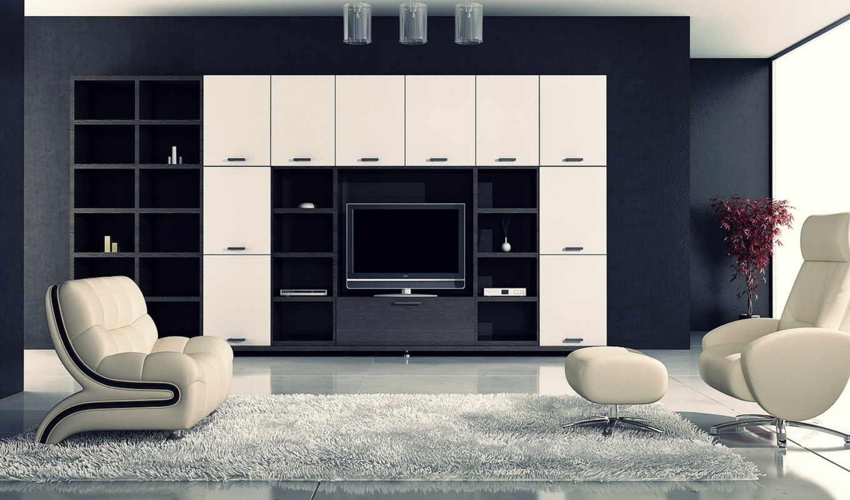 чёрно, интерьере, white, интерьер, люди, выбирают, design,