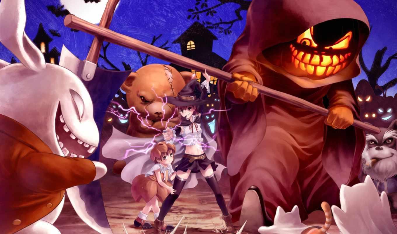 anime, halloween, aru,