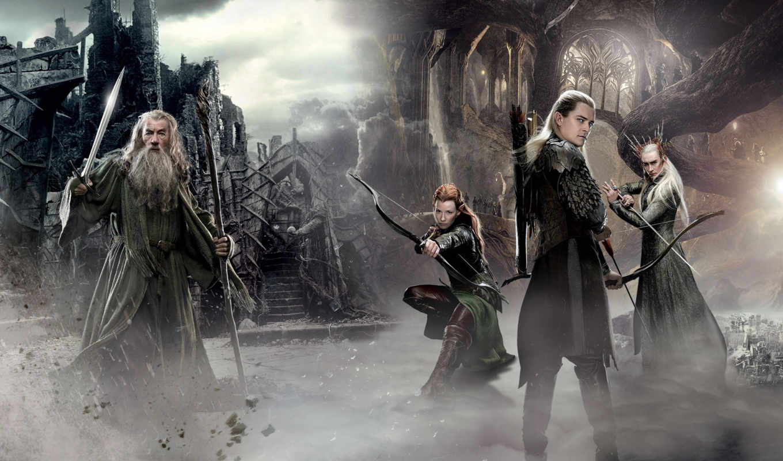 hobbit, эльфы, смауг, запустение,