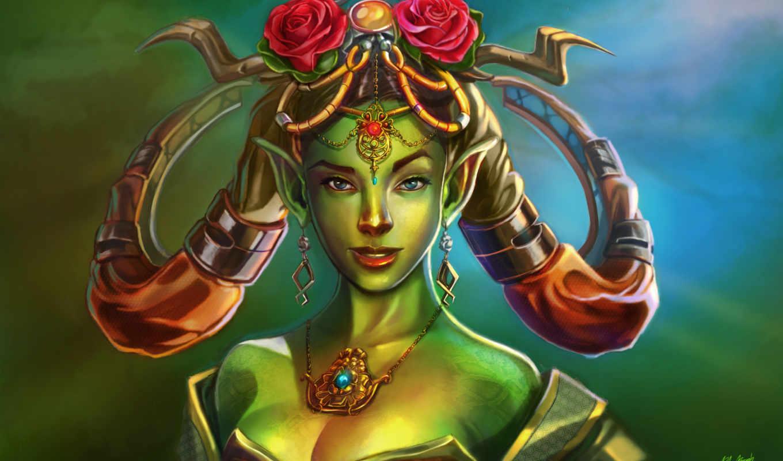 elfy, fantasy, devushki, картинка, лицо, эльф, волосы,