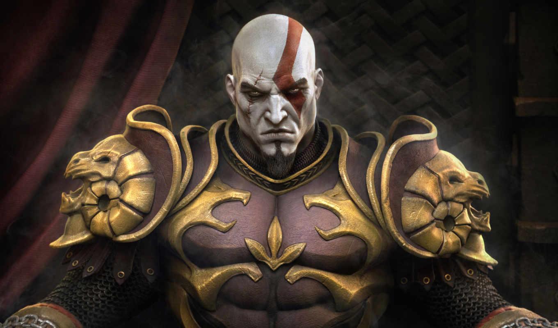 god, war, ghost, спарты, kratos, качественные, fantasy, ago, days, лет,