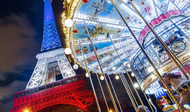 париж, башня, eiffel, francii, город, eifelevyi, франция