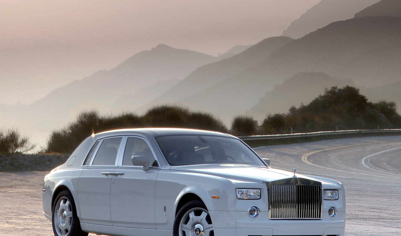 royce, rolls, phantom, white, the, обои, with, wal