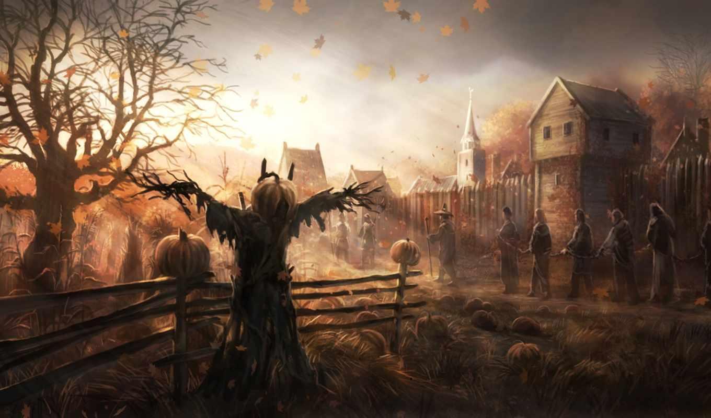 halloween, открытки, новогодние, ночь,