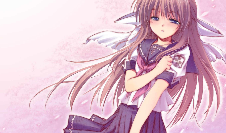 anime, девушка, грустный, girls,