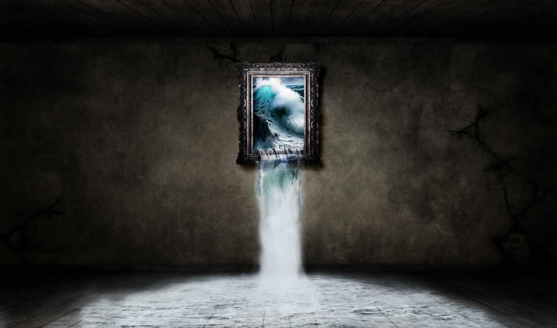 картина, один, шторм, avec, ожившая, окно, cascade, fonds, совершенно, ecran, une, photoshop, intérieur, приколы, art, cikay, креатив, вентилятор, numérique, был,