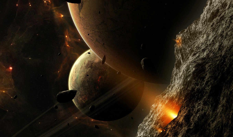 planets, космос, метеоритный, картинку, дождь, опасность, планеты, картинка, луч,