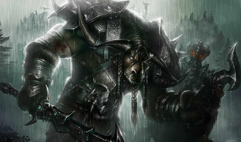 таурен, воин, world, warcraft, арт, игре, сайте,