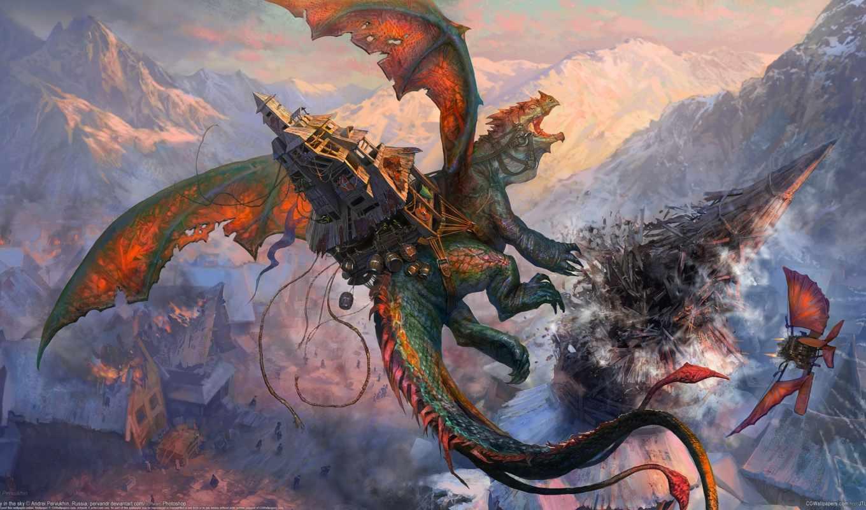 драконы, фэнтези, дракон,