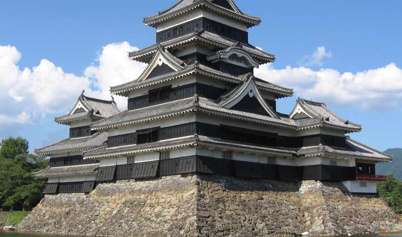 замков, мацумото, замок, японии, классических, хираджиро, япония,