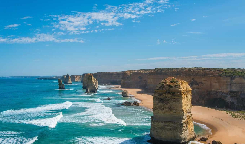 природа, море, пляжи, берег, австралии, скалы, landscapes, австралия, twelves, ocean,
