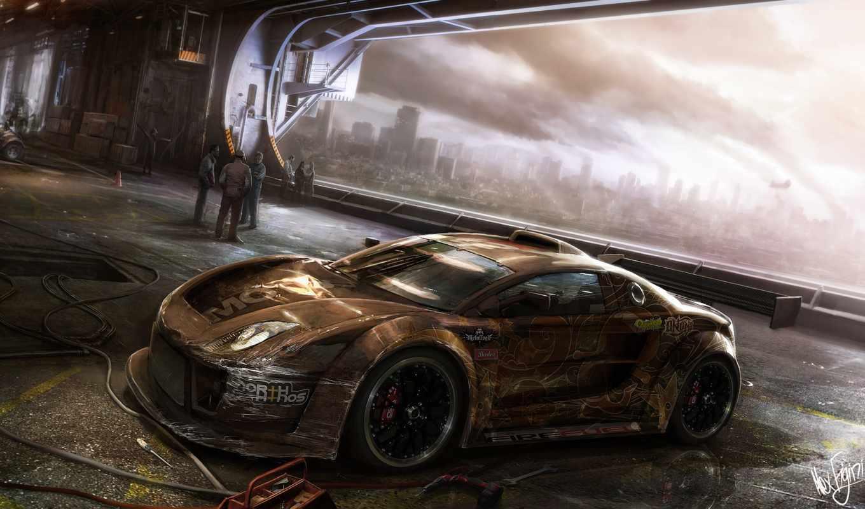 машина, апокалипсис, car, motorstorm, фантастика, fantasy, гоночная, гараж, машины, авто,