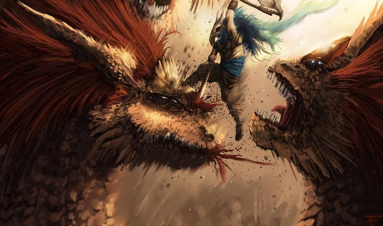 monster, hunter, fantasy, spoiler, desktop, slayer, art,