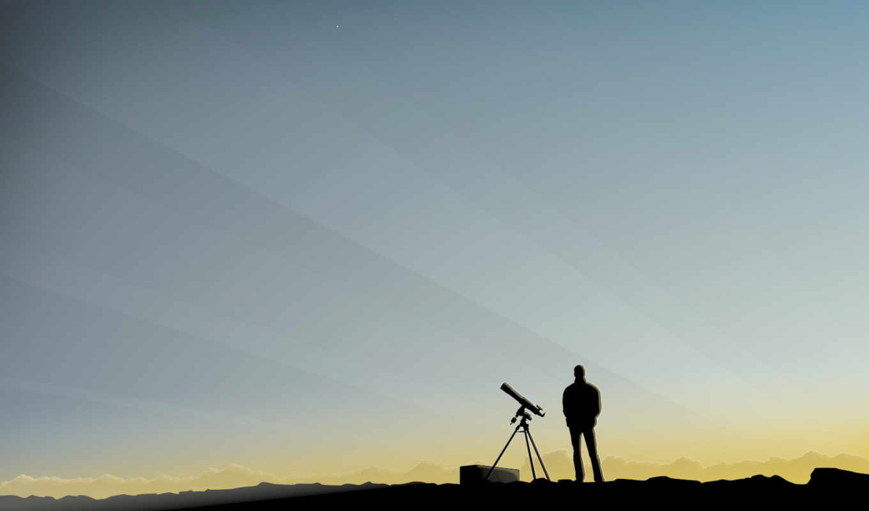 человек, телескоп, утро, подзорная, вектор, наблюдение, небо, труба, минимализм, görüntüleri, this, bilgisayar, car, ekran, lagoon, desktop, big,