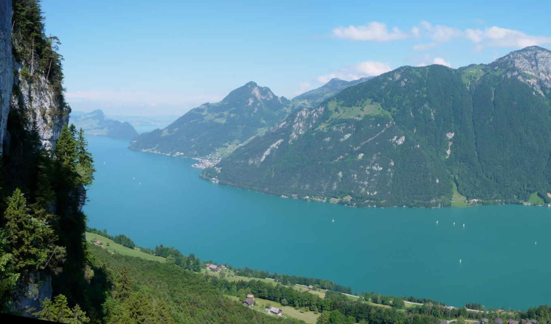 швейцария, emmetten, пейзаж, сверху, река, картинку, природа, ней, правой, кнопкой, мыши, выберите, картинка,