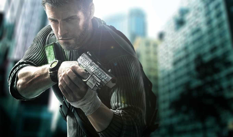 парень, мужчина, клеточка, крутой, splinter, пистолет,