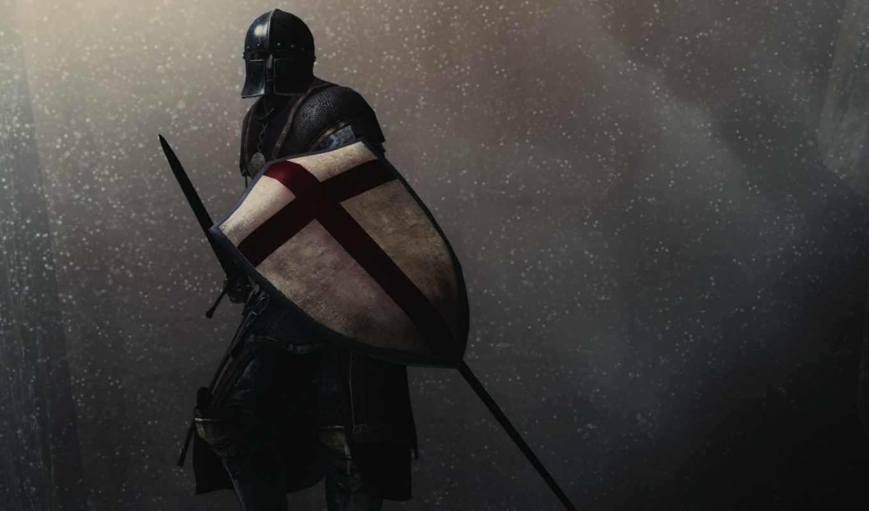 шлем, воин, меч, доспех, щит,