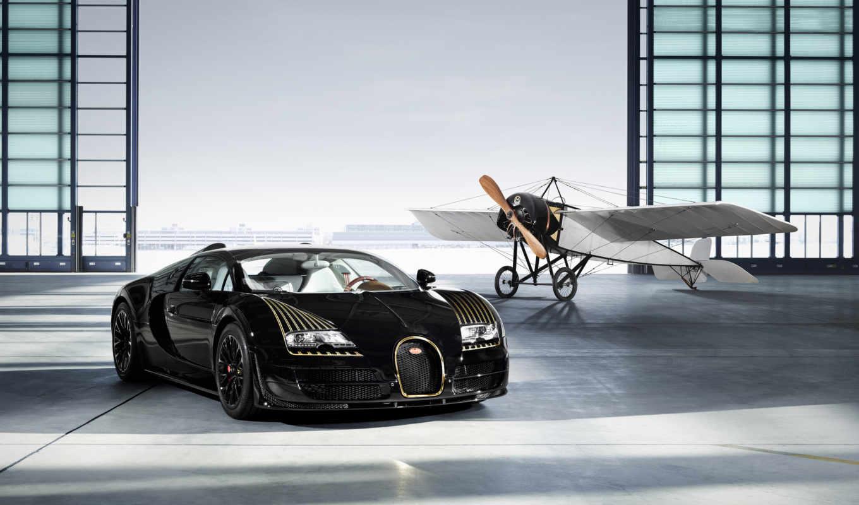 bugatti, veyron, black, bess, vitesse, grand, спорт,