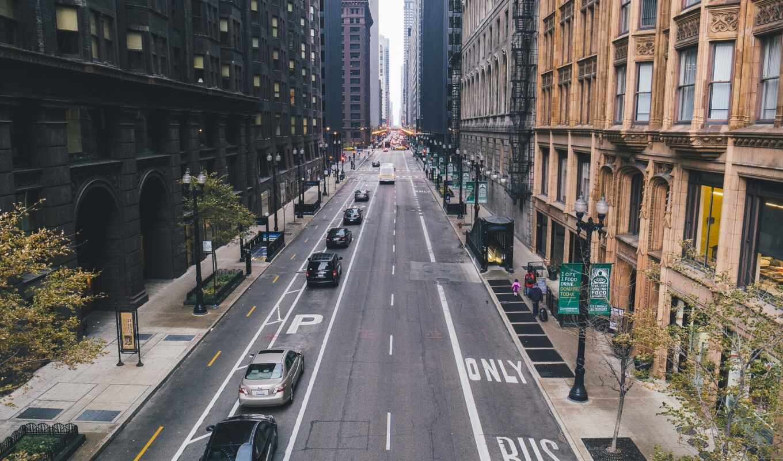 улица, chicago, небоскрёба