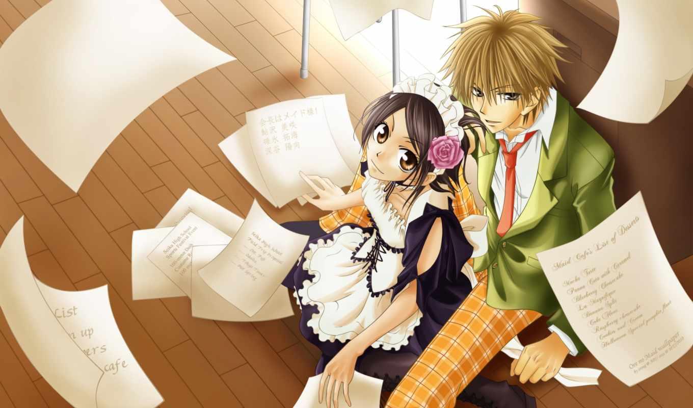 anime, девушка, горничная, парень, девушки, class, президент,