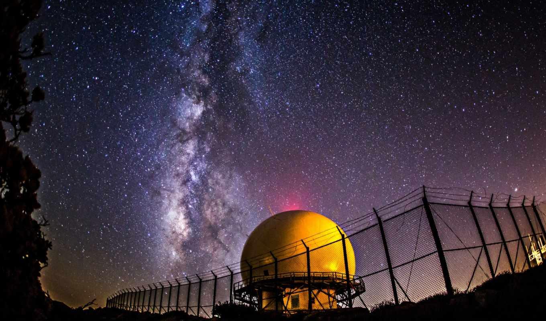 космос, ночь, звезды, путь, млечный, небо, природа, картинка,