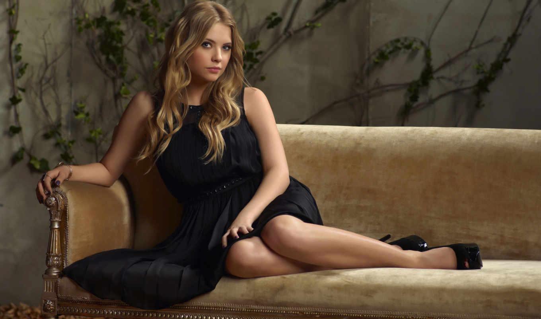 платье, чёрное, девушка, little, liars, pretty, blonde,