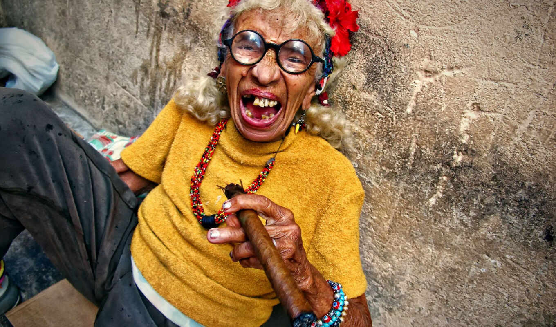 бабушка, кубы, сигара, стена, близко, sit, arm, кубик, paso, сальса