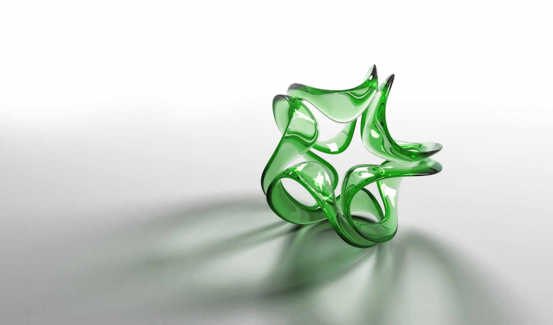 фона, трехмерной, графикой, knot, glass,