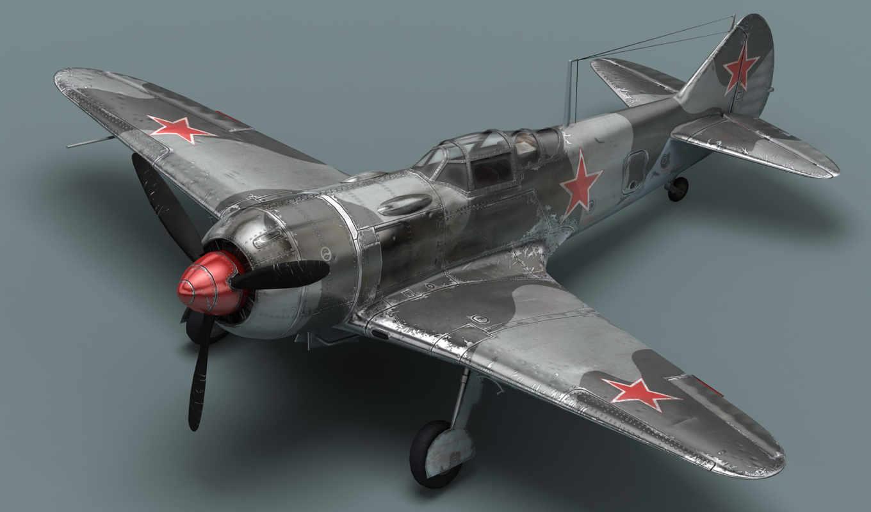 пропеллер, истребитель, советский, ла, самолёт, авиация, смотрите, экрана,