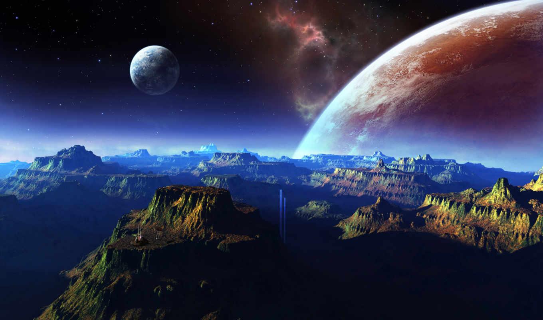 space, hintergrundbilder, planeta, fantastische, landschaft, berge, fantastic, raum, best, planeten, fondos, горы, montañas, espacio, mountains, paisaje, планеты, cosmic, fantástico, fonds, ecran,