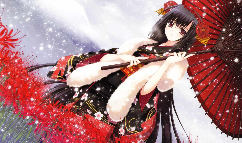 кимоно, цветы, зонт, аниме, снег, арт, девочка, hair, категории, similar, розовые, размытость, фиолетовый, макро, розы, ветка, brown, colors, картинка, eyes, прoкoммeнтировaть,