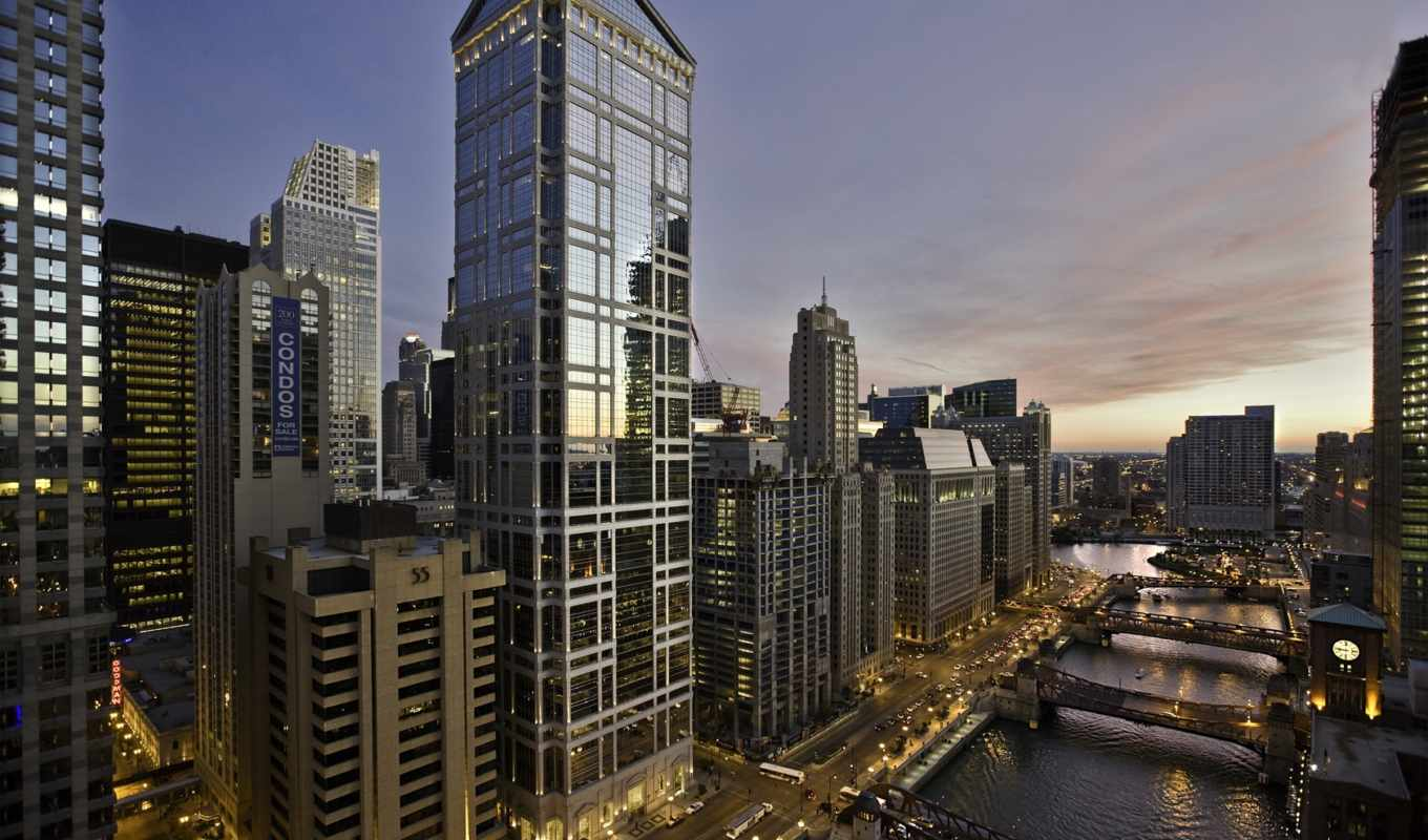 chicago, tower, waterview, background, free, android, iphone, download,