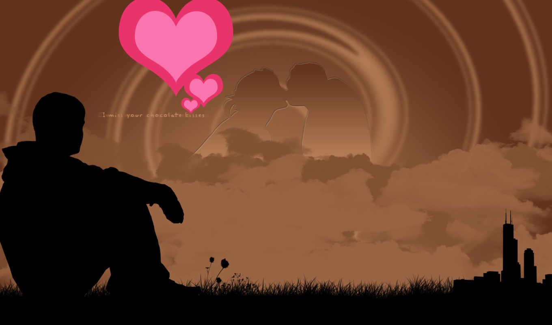 скучаю, сердце, любви, символ, сиреневое, love,