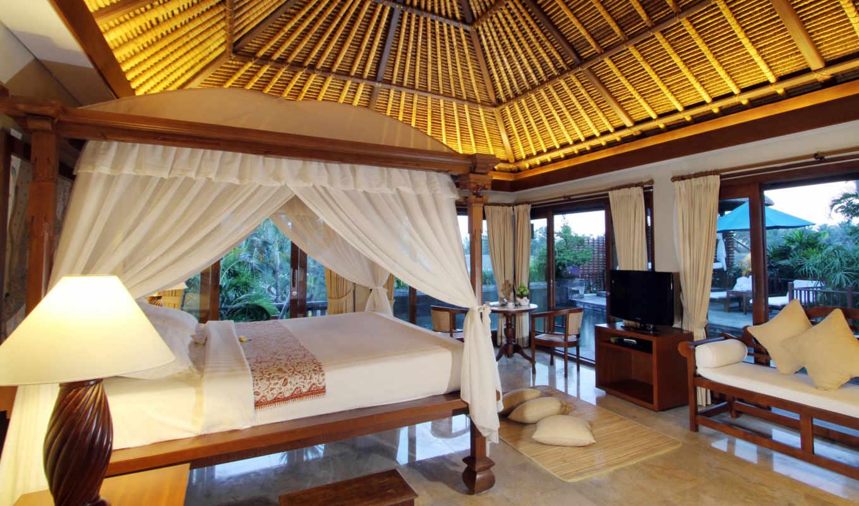 кровать, спальня, интерьер,