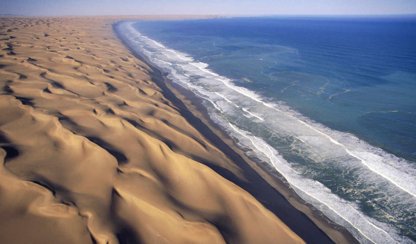 coast, nature, sand, shore, beach, landscapes, mediterranean, namib, sivatag, amazing, water, namibia, background, dunes, africa,
