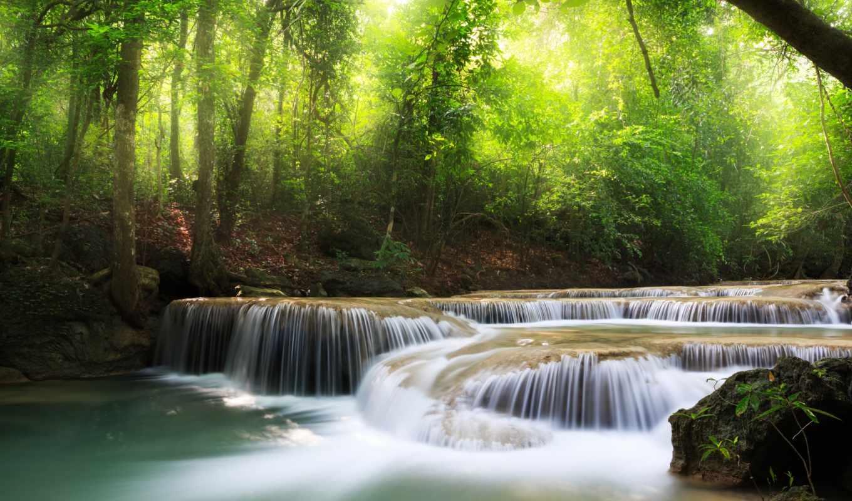 клипарт, растровый, водопады, природа, водопад, янв,