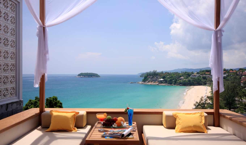 море, отдых, summer, пляж, остров, тепло, вид, sofas,